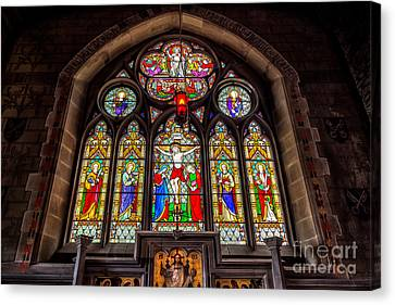 Ancient Stained Glass Canvas Print by Adrian Evans