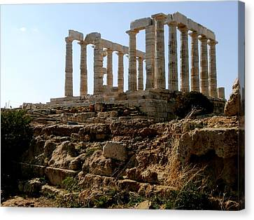 Ancient Temple Canvas Print by Constantinos Charalampopoulos