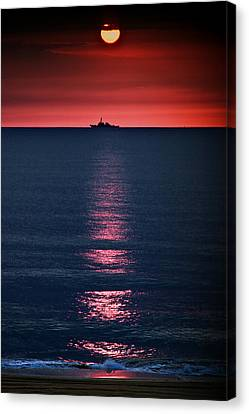And All The Ships At Sea Canvas Print by Tom Mc Nemar