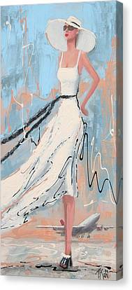 And She's Off Canvas Print by Thalia Kahl