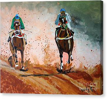 And The Winner Is Canvas Print by Judy Kay
