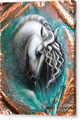 Andalusian - Copper Canvas Print by Sandi Baker