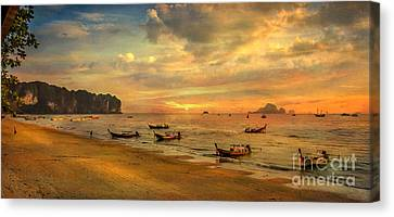 Andaman Sunset Canvas Print by Adrian Evans