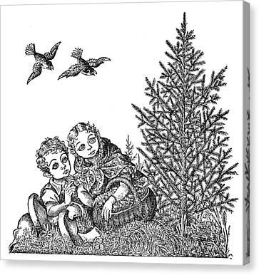 Andersen The Fir Tree Canvas Print by Granger