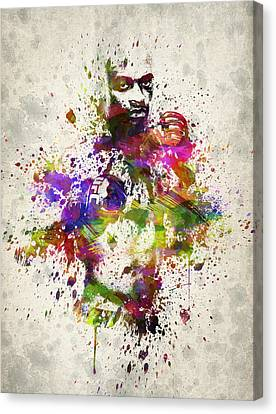 Anderson Silva Canvas Print by Aged Pixel