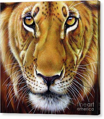 Andre Lion Canvas Print by Jurek Zamoyski