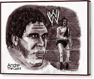 Andre The Giant Canvas Print by Chris  DelVecchio