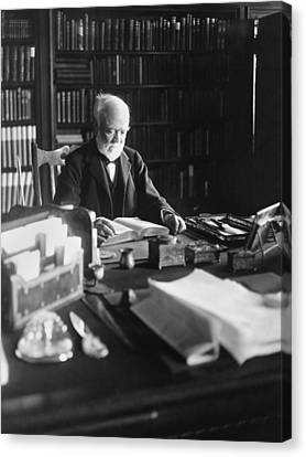 Andrew Carnegie Reading Canvas Print by Marceau