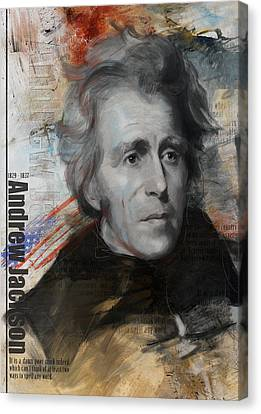 Andrew Jackson Canvas Print by Corporate Art Task Force