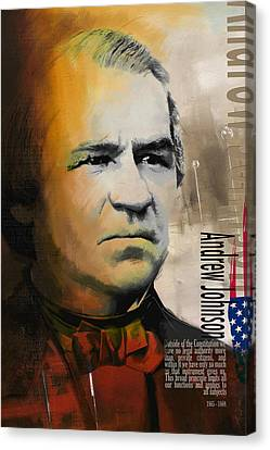 Andrew Johnson Canvas Print by Corporate Art Task Force