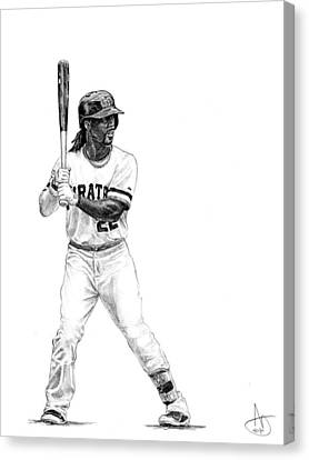 Andrew Mccutchen Canvas Print by Joshua Sooter