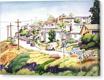 Andrews Street Mission Hills Canvas Print by Mary Helmreich