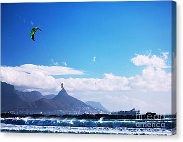 Andries - Redbull King Of The Air Cape Town  Canvas Print by Charl Bruwer