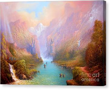 Anduin The Great River Canvas Print by Joe  Gilronan