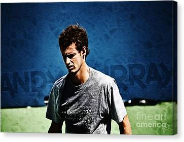 Andy Murray Canvas Print by Nishanth Gopinathan