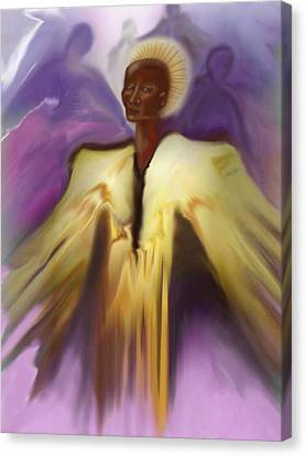 Angel And Guides Canvas Print by Linda Marcille