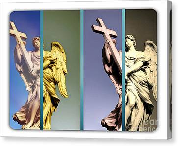 Angel And Supernatural Canvas Print by Stefano Senise