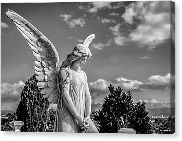 Angel At The Heredia General Cemetery Canvas Print by Andres Leon