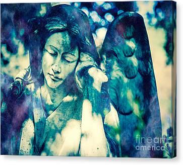 Angel Blue Canvas Print by Sonja Quintero