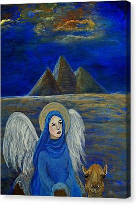 Angel From Eygpt Called Lapis Lazueli Canvas Print by The Art With A Heart By Charlotte Phillips