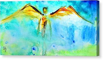 Angel Guardian Canvas Print by Ivan Guaderrama
