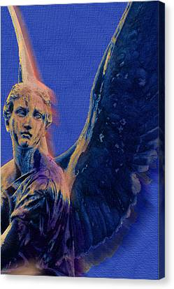 Angel In Blue And Gold Canvas Print by Tony Rubino