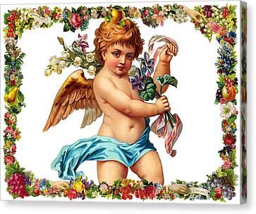 Angel In Blue Canvas Print by Munir Alawi