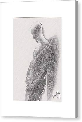 Angel Backlit Canvas Print by Quim Abella