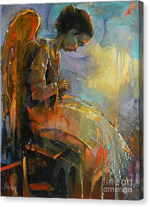 Angel Meditation Canvas Print by Michal Kwarciak