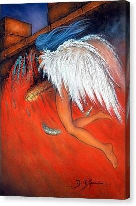 Angel Of Death  Canvas Print by Guillaume Bruno