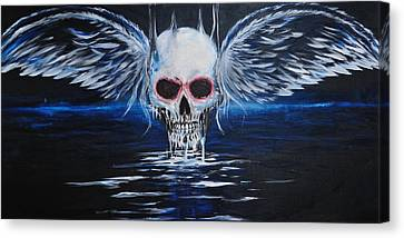Angel Of Death Canvas Print by Ruben Barbosa