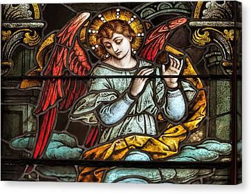 Angel Of God My Guardian Dear Canvas Print by Bonnie Barry