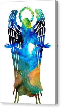 Angel Of Light - Spiritual Art Painting Canvas Print by Sharon Cummings