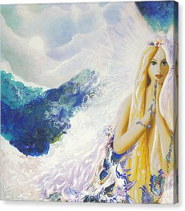 Angel Of Peace Canvas Print by Valerie Graniou-Cook