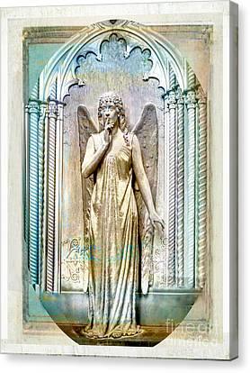Angel Of Silence.genoa Canvas Print by Jennie Breeze