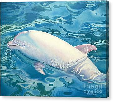 Angel Of Taiji Canvas Print by Catherine Garneau