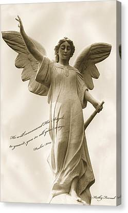 Angel Religious Spiritual Inspirational Art Canvas Print by Kathy Fornal