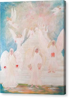Angel Stairway Canvas Print by Karen Jane Jones