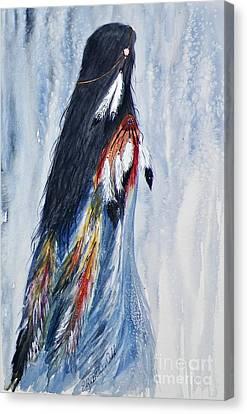Angel Woman Canvas Print by Elizabeth  Webb
