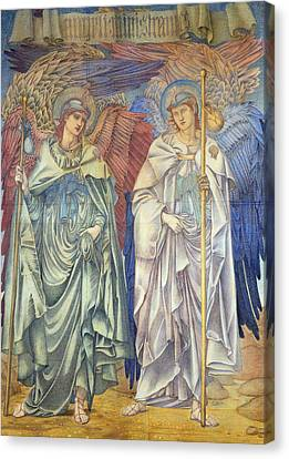 Angeli Ministrantes Canvas Print by Sir Edward Coley Burne-Jones
