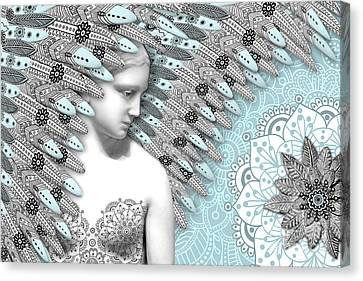 Angelica Hiberna - Angel Of Winter Canvas Print by Christopher Beikmann