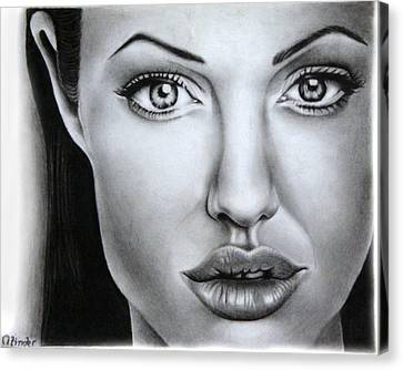 Angelina Jolie Canvas Print by Atinderpal Singh