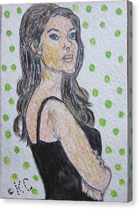 Angelina Jolie Canvas Print by Kathy Marrs Chandler