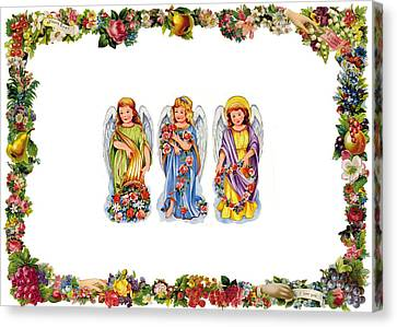 Angels And Roses Canvas Print by Munir Alawi