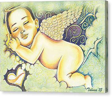 Angels In The Sky Canvas Print by Teleita Alusa