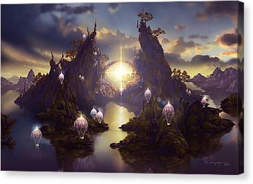 Angels Passage Canvas Print by Cassiopeia Art