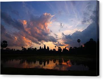 Angkor Wat Sunrise Canvas Print by FireFlux Studios