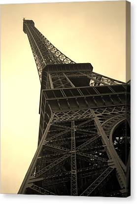Angle Of The Tower Canvas Print by Steven  Taylor