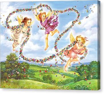 Angels Canvas Print by Zorina Baldescu