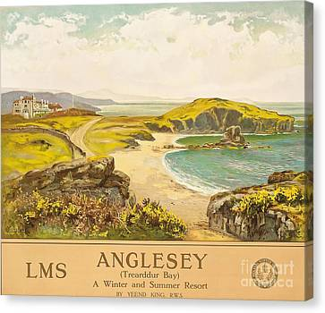 Anglesey Canvas Print by Henry John Yeend King